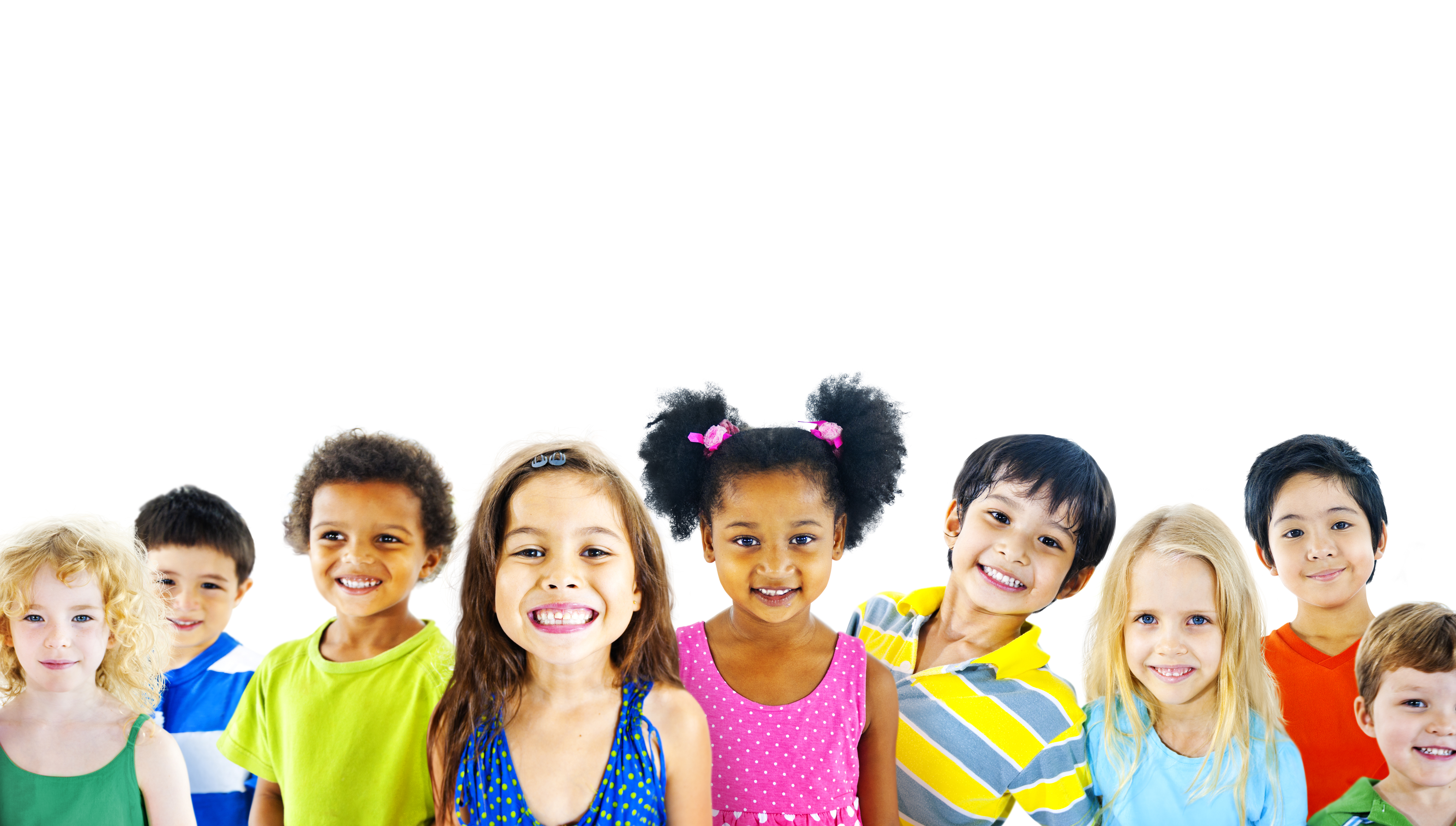 children smiling with healthy teeth